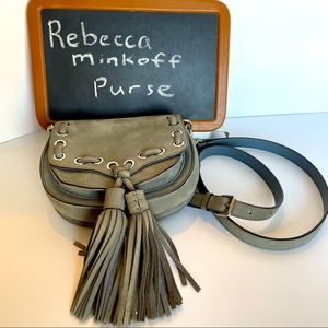 Rebecca Minkoff grey nubuck leather crossbody bag